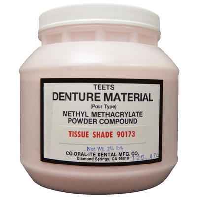 Teets Pour Type Denture Powder Veined 51174 Lightly Fibered Light Pink 1 lb